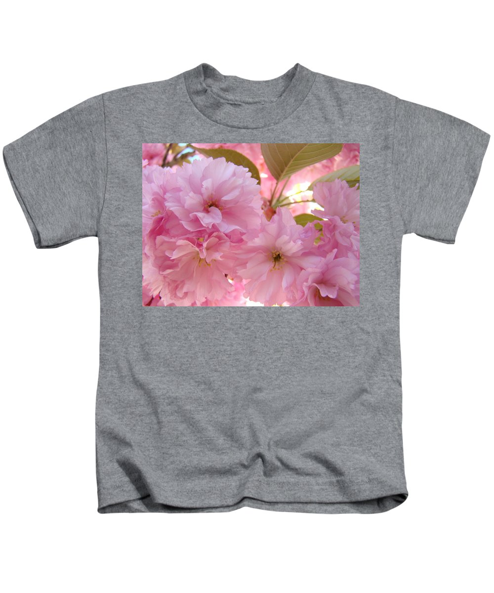 Blossom Kids T-Shirt featuring the photograph Pink Blossoms Art Prints Spring Tree Blossoms Baslee Troutman by Baslee Troutman