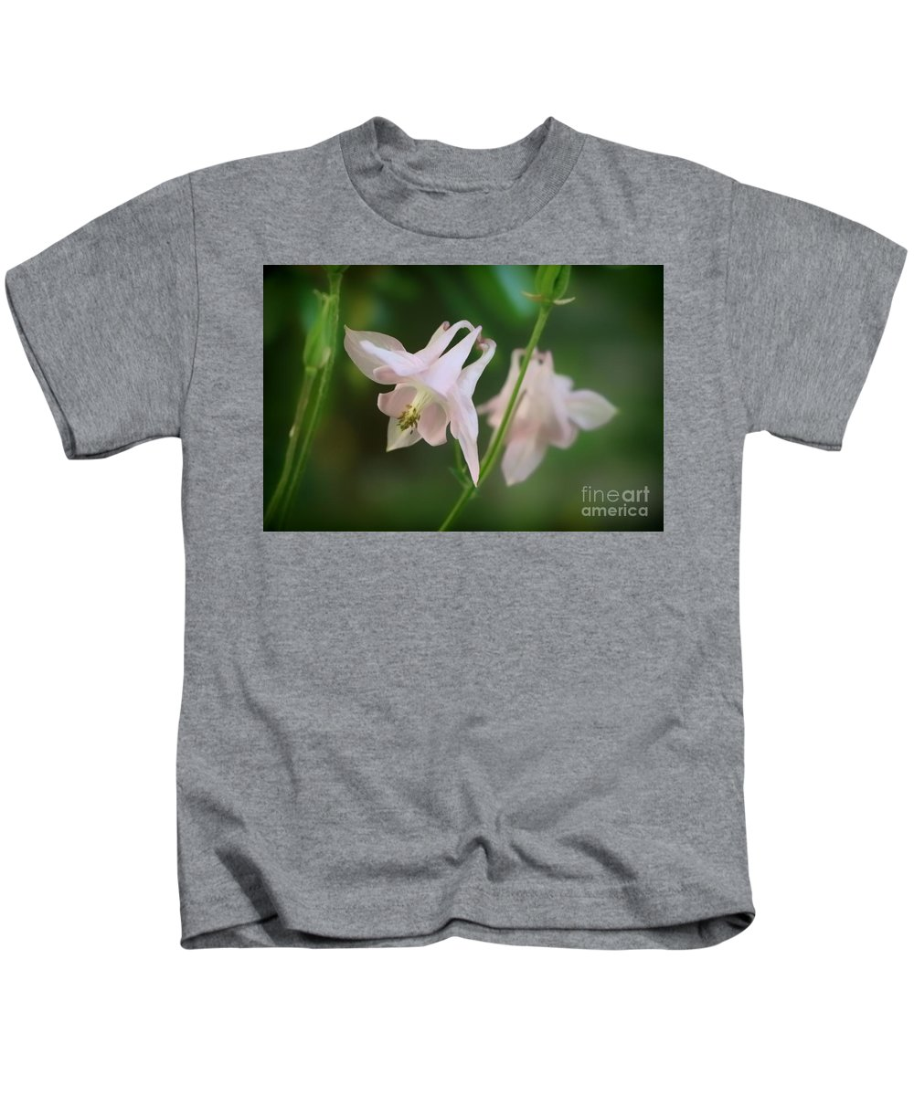 Abstract Kids T-Shirt featuring the photograph Pink Columbine by Elizabeth Dow