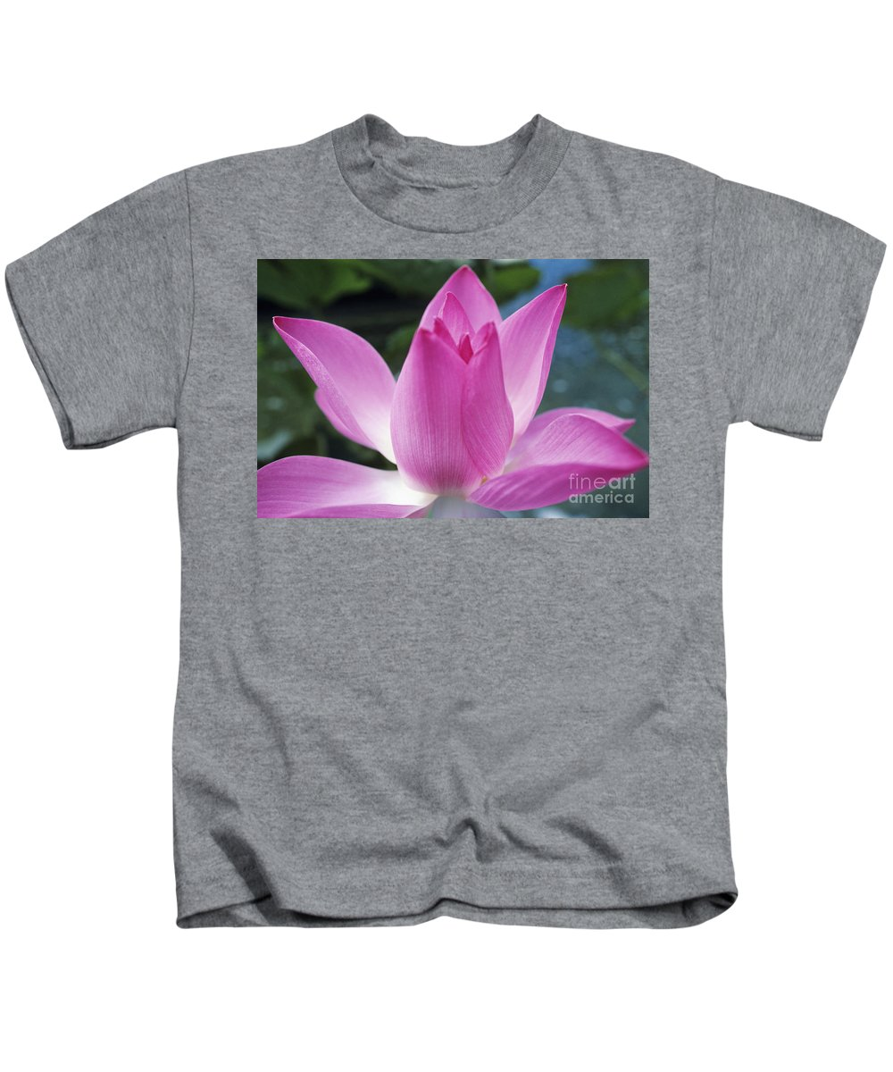 Beautiful Kids T-Shirt featuring the photograph Pink Lotus by Larry Dale Gordon - Printscapes