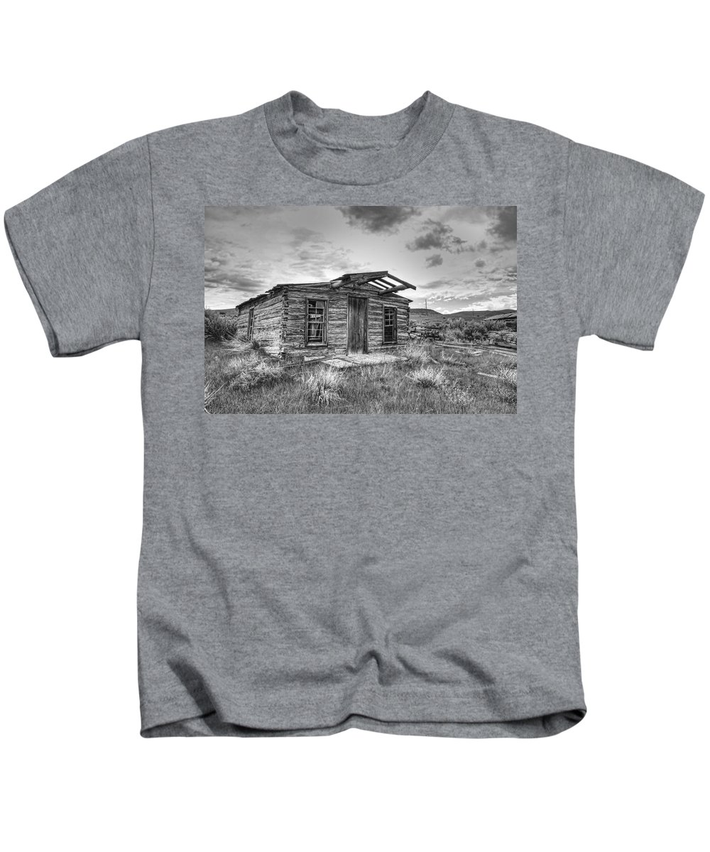 log Cabin Kids T-Shirt featuring the photograph Pioneer Home - Nevada City Ghost Town by Daniel Hagerman