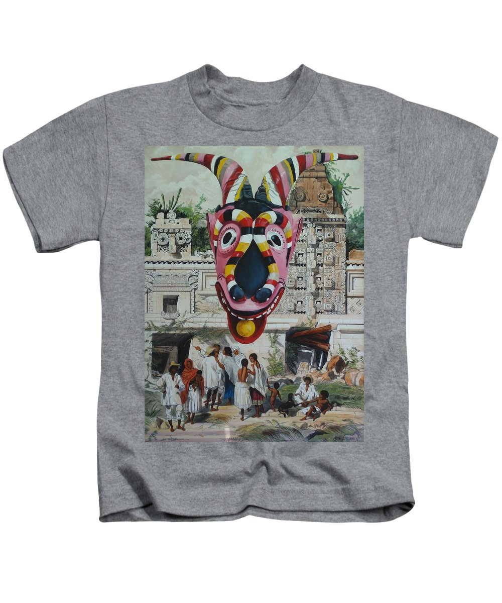 Michael Earney Kids T-Shirt featuring the painting Plate Xv by Michael Earney