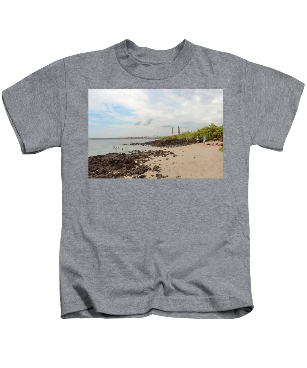 Sand Kids T-Shirt featuring the photograph Playa De La Estacion On Santa Cruz Island In Galapagos by Marek Poplawski