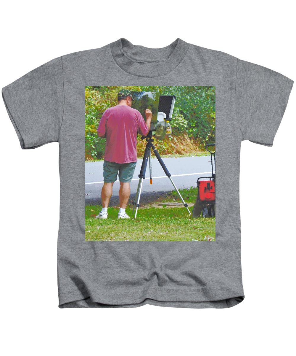 Plein Air Kids T-Shirt featuring the photograph Plein Air L'automne by Tami Quigley