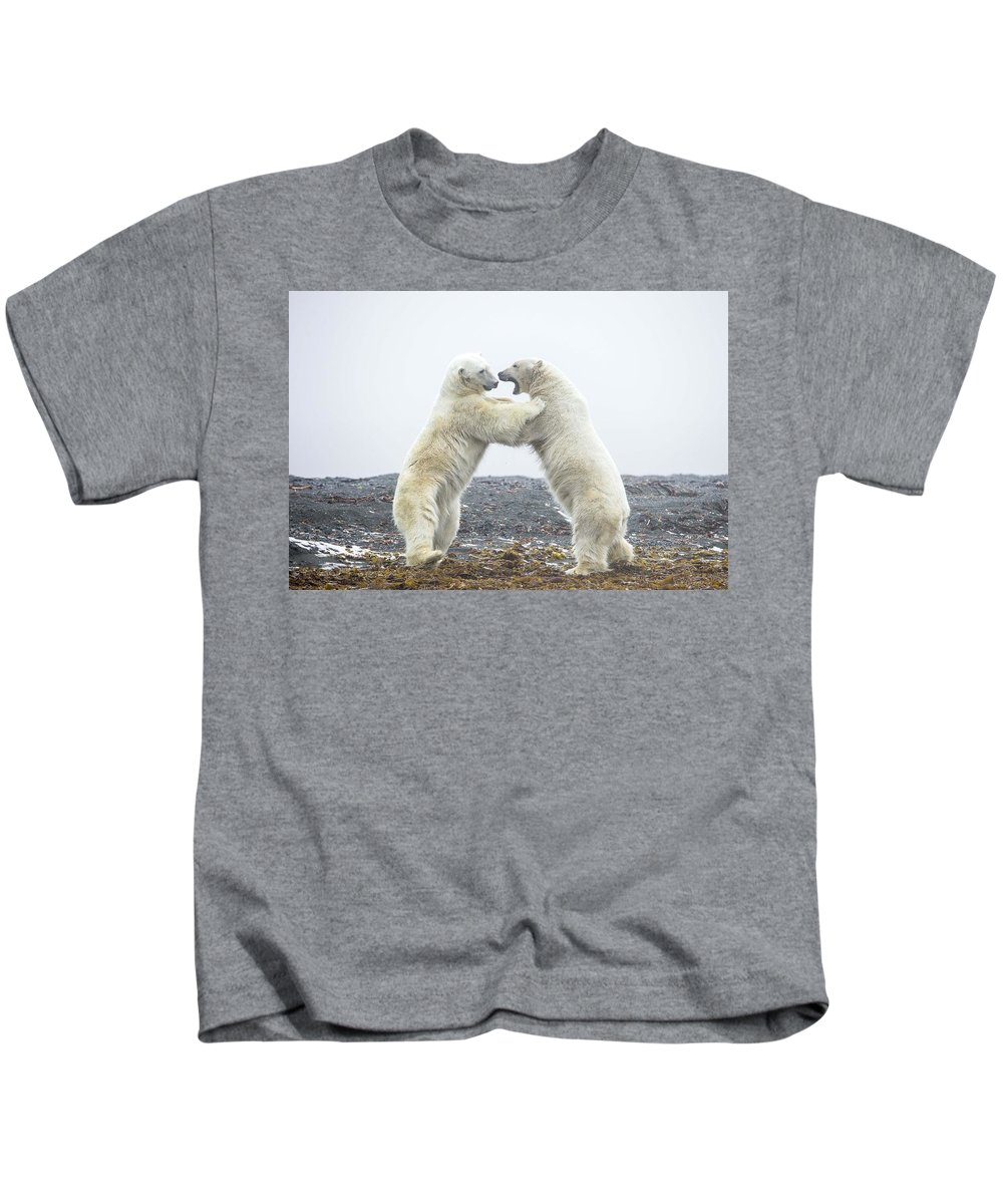 Polar Bear Kids T-Shirt featuring the digital art Polar Bear by Dorothy Binder