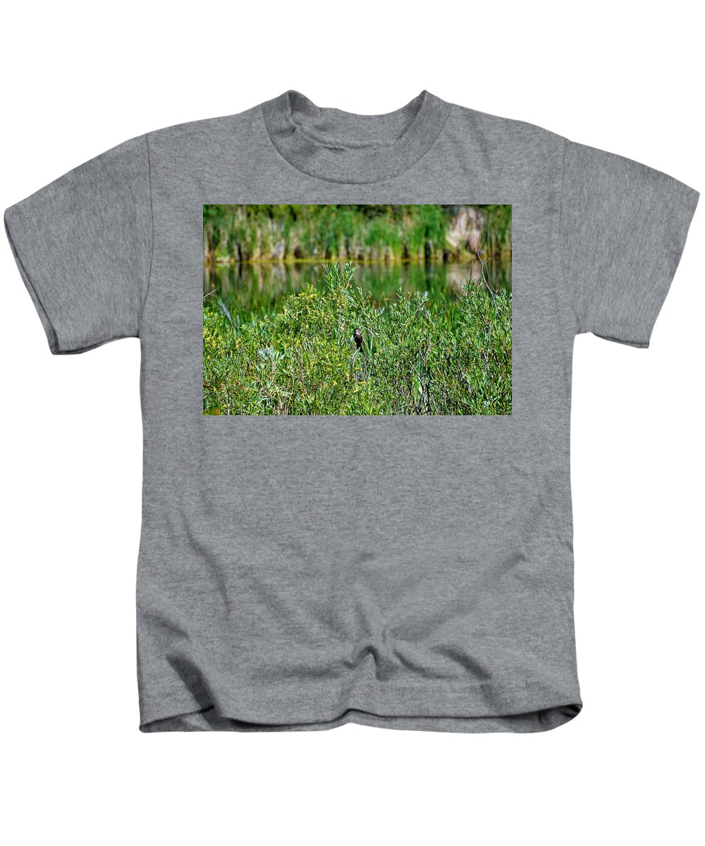 Pond Kids T-Shirt featuring the photograph Pond On Cherry Creek Study 2 by Robert Meyers-Lussier