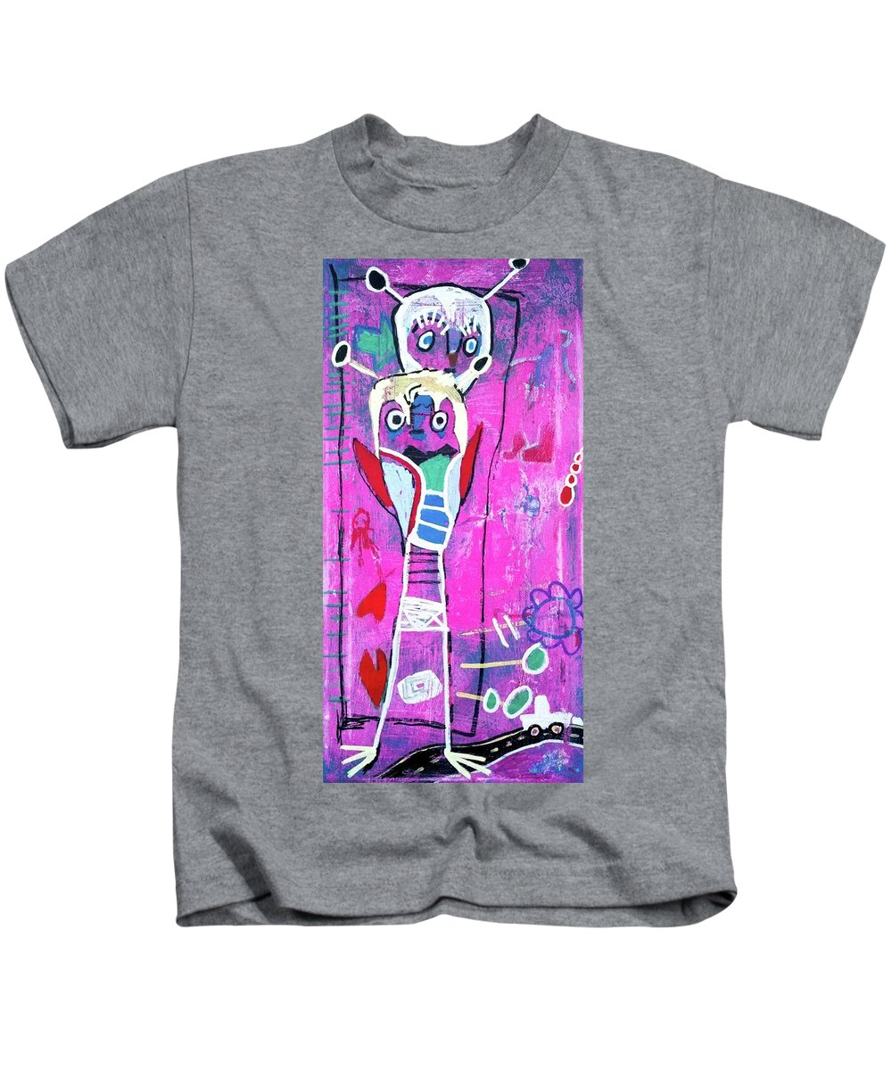Imaginary Kids T-Shirt featuring the painting Pop Up Friend by C Lanham