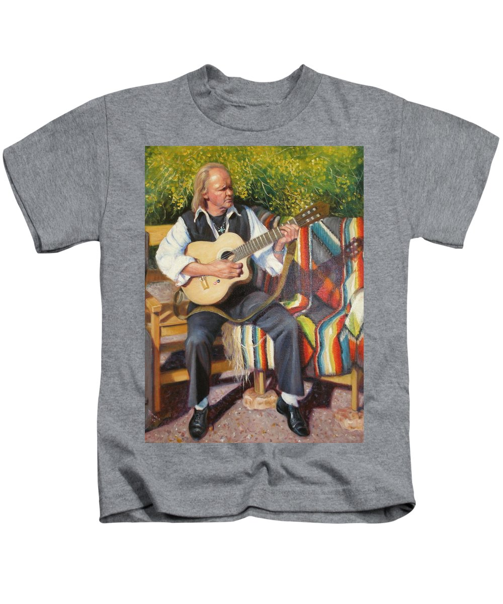 Realism Kids T-Shirt featuring the painting Por Tu Amor by Donelli DiMaria