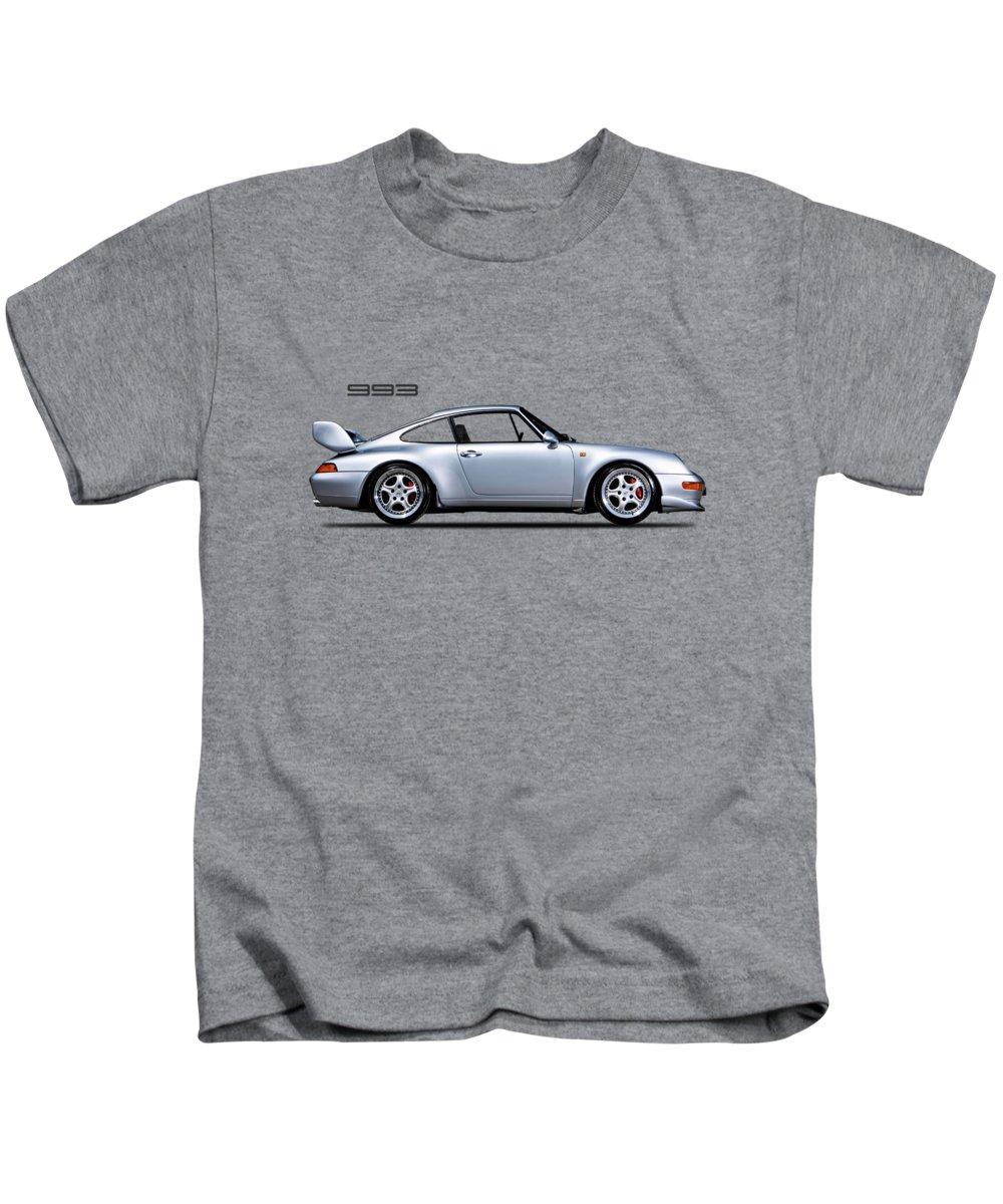 Porsche 993 Kids T-Shirt featuring the photograph Porsche 993 by Mark Rogan