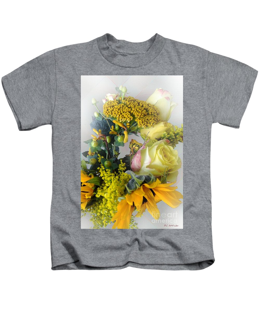 Bouquet Kids T-Shirt featuring the photograph Posies Picturesque by RC DeWinter