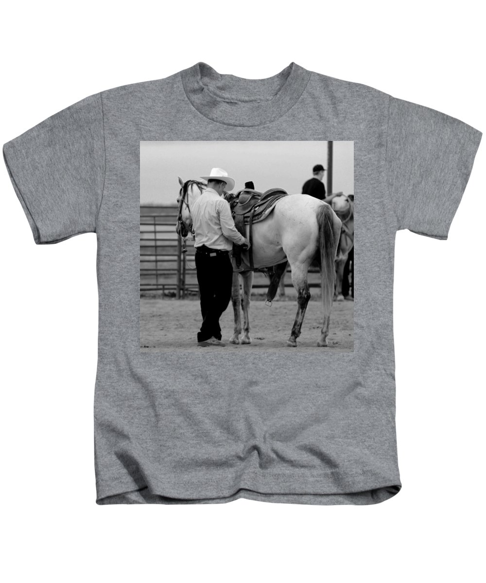 Rodeo Kids T-Shirt featuring the photograph Preparing by Scott Sawyer