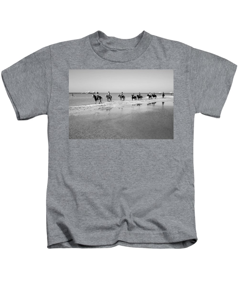 Jezcself Kids T-Shirt featuring the photograph Preswim by Jez C Self
