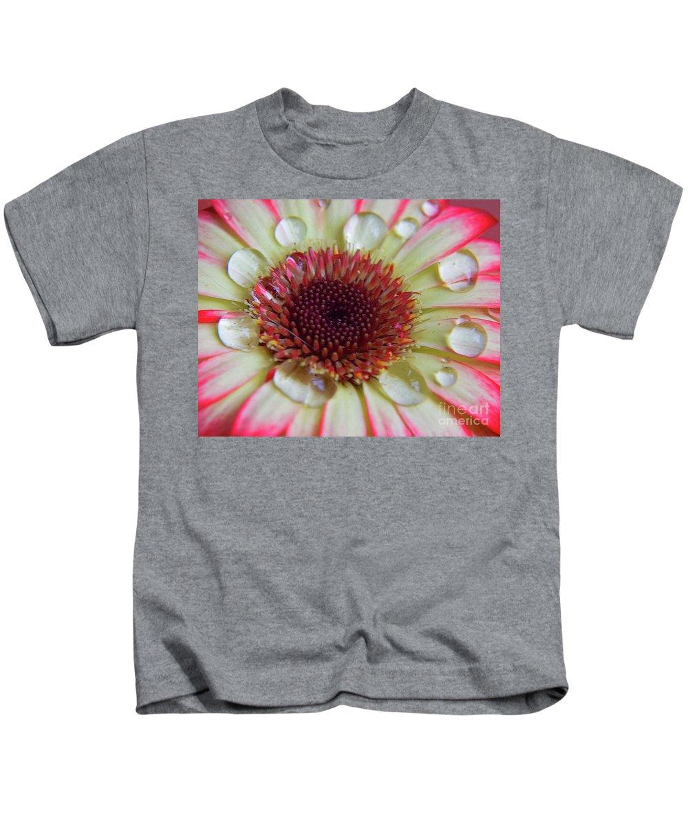 Flowers Kids T-Shirt featuring the photograph Pretty Gerber by Elvira Ladocki