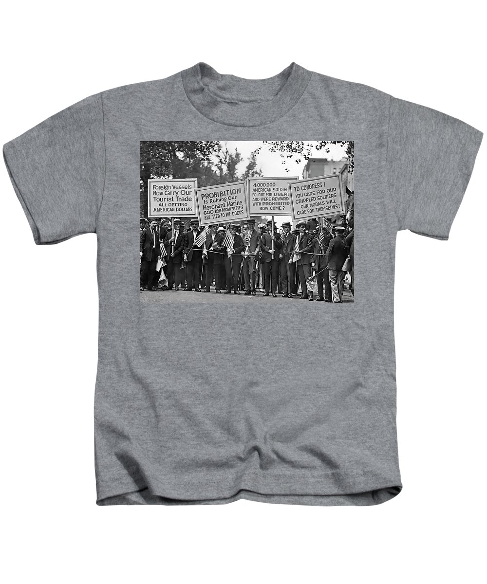 Prohibition Kids T-Shirt featuring the photograph Prohibition Protestors by Daniel Hagerman
