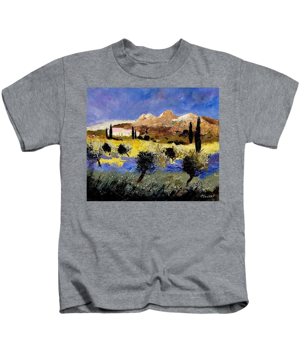 Provence Kids T-Shirt featuring the painting Provence 674525 by Pol Ledent