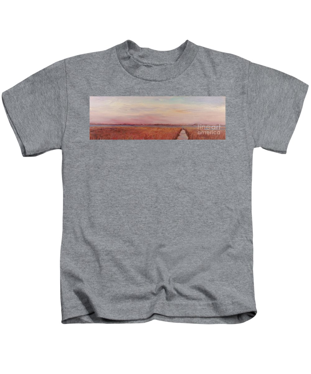 Landscape Kids T-Shirt featuring the painting Provence Camargue by Nadine Rippelmeyer