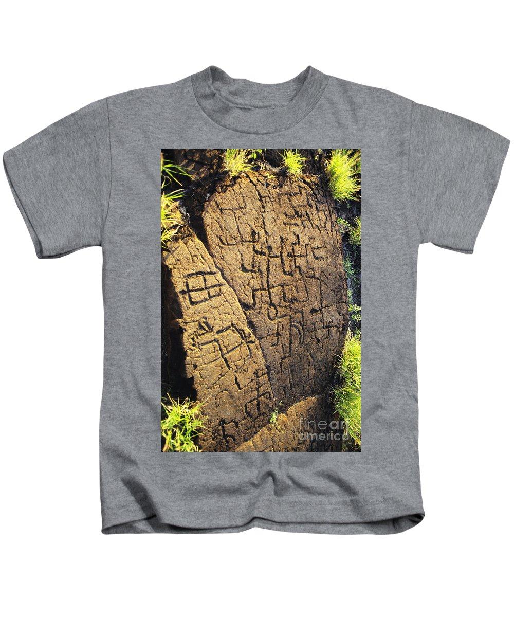 Ancient Kids T-Shirt featuring the photograph Puako Petroglyphs by Mary Van de Ven - Printscapes