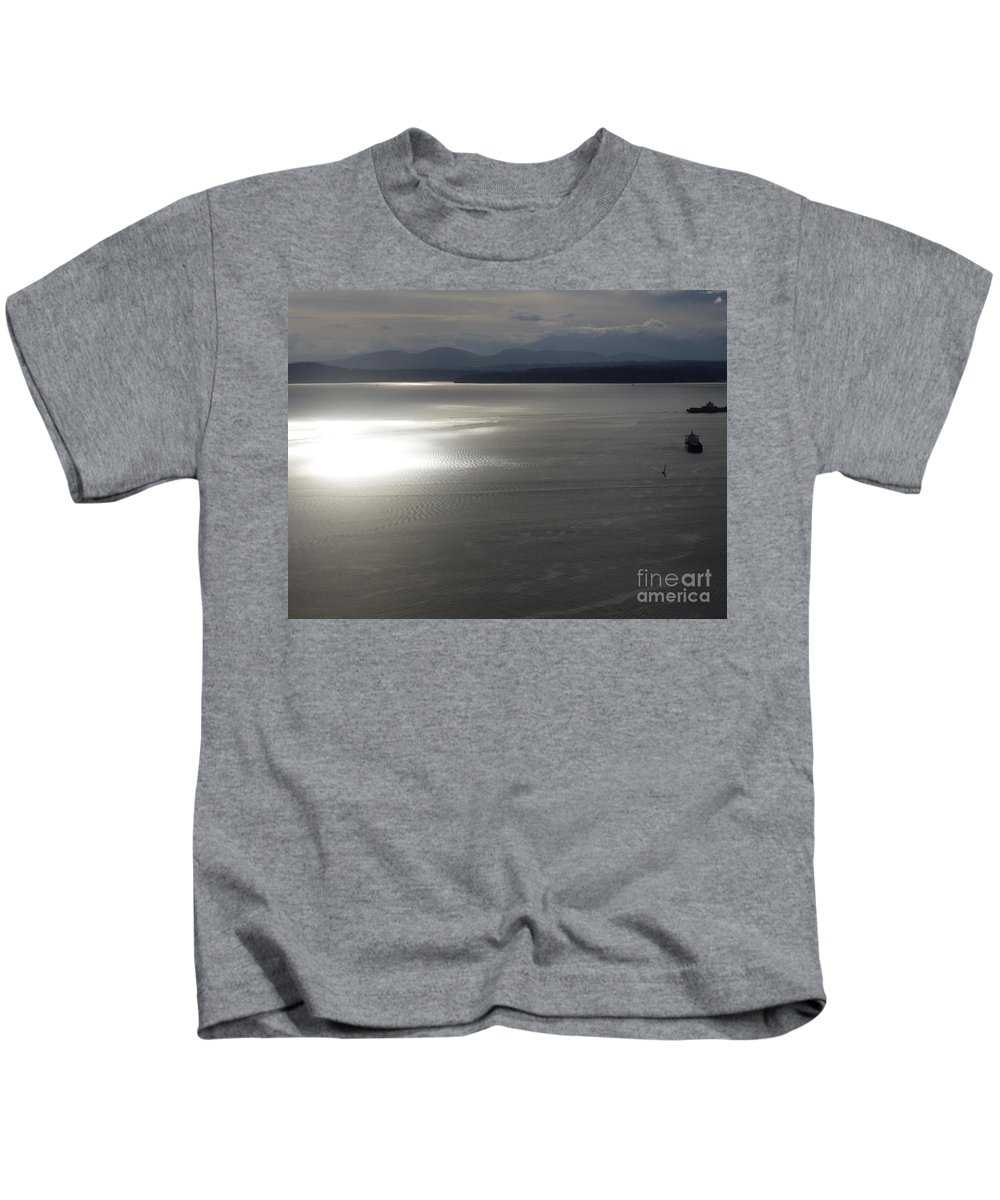 Puget Sound Kids T-Shirt featuring the photograph Puget Sound 1 by John Franke