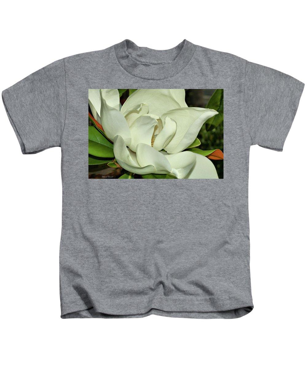Flower Kids T-Shirt featuring the photograph Pure White Fragrant Beauty by Deborah Benoit
