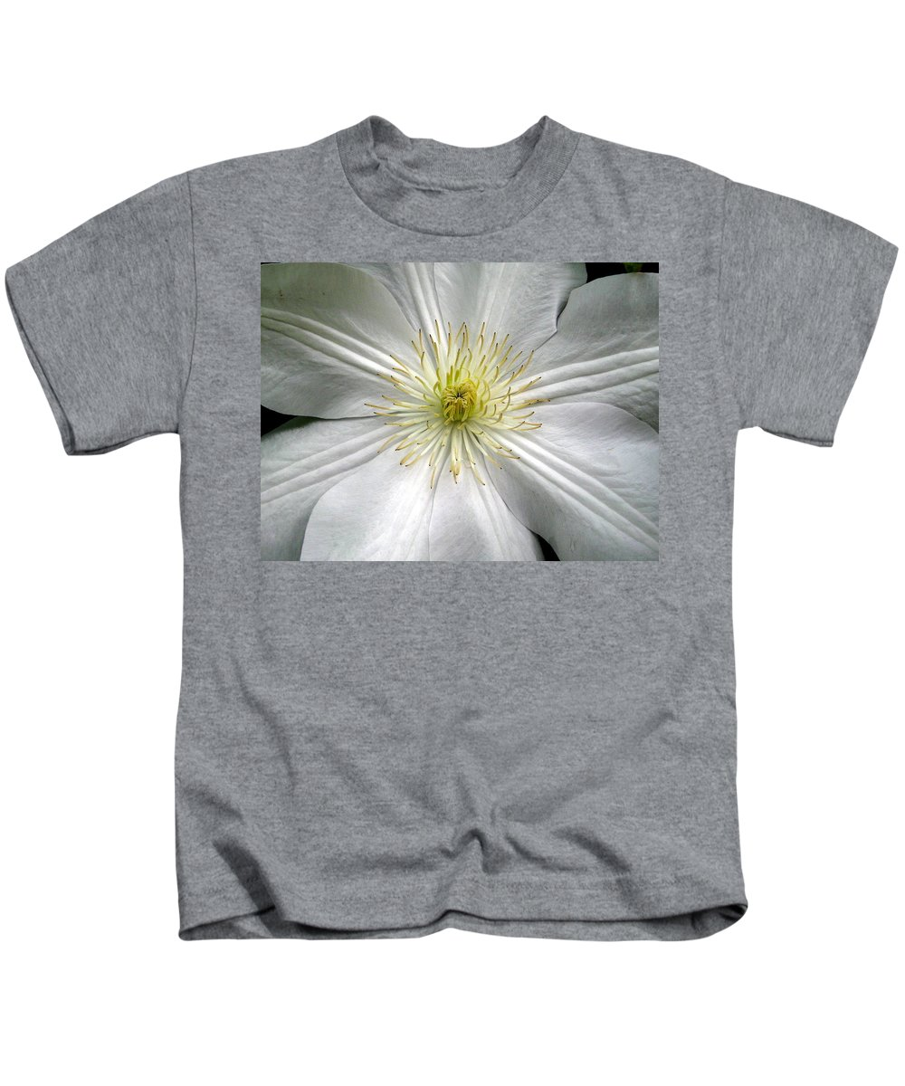 Clematis Kids T-Shirt featuring the photograph Purity by Marla McFall