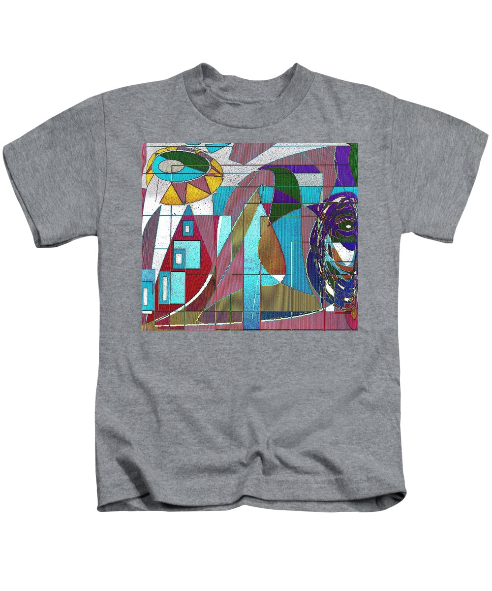 Purple Kids T-Shirt featuring the digital art Purple And Blue by Ian MacDonald
