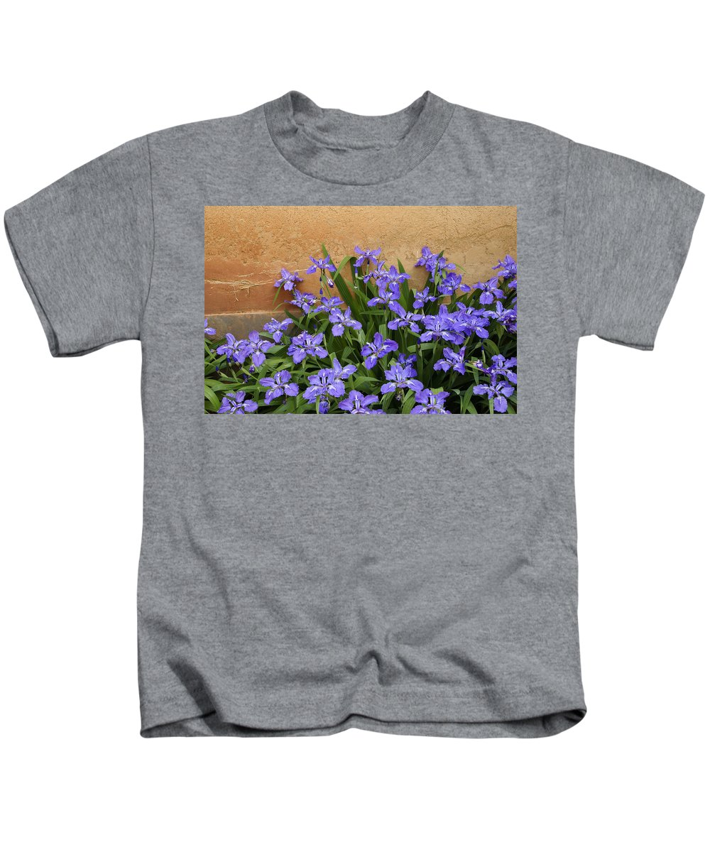 Flowers Kids T-Shirt featuring the photograph Purple And Orange by Michele Burgess