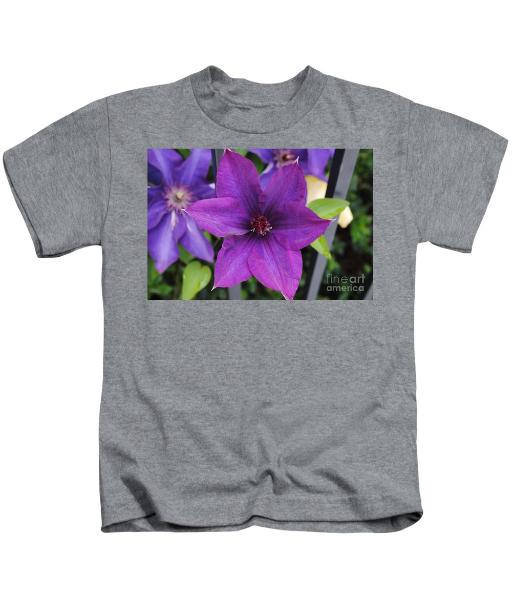 Flower Kids T-Shirt featuring the photograph Purple Floral by Jost Houk