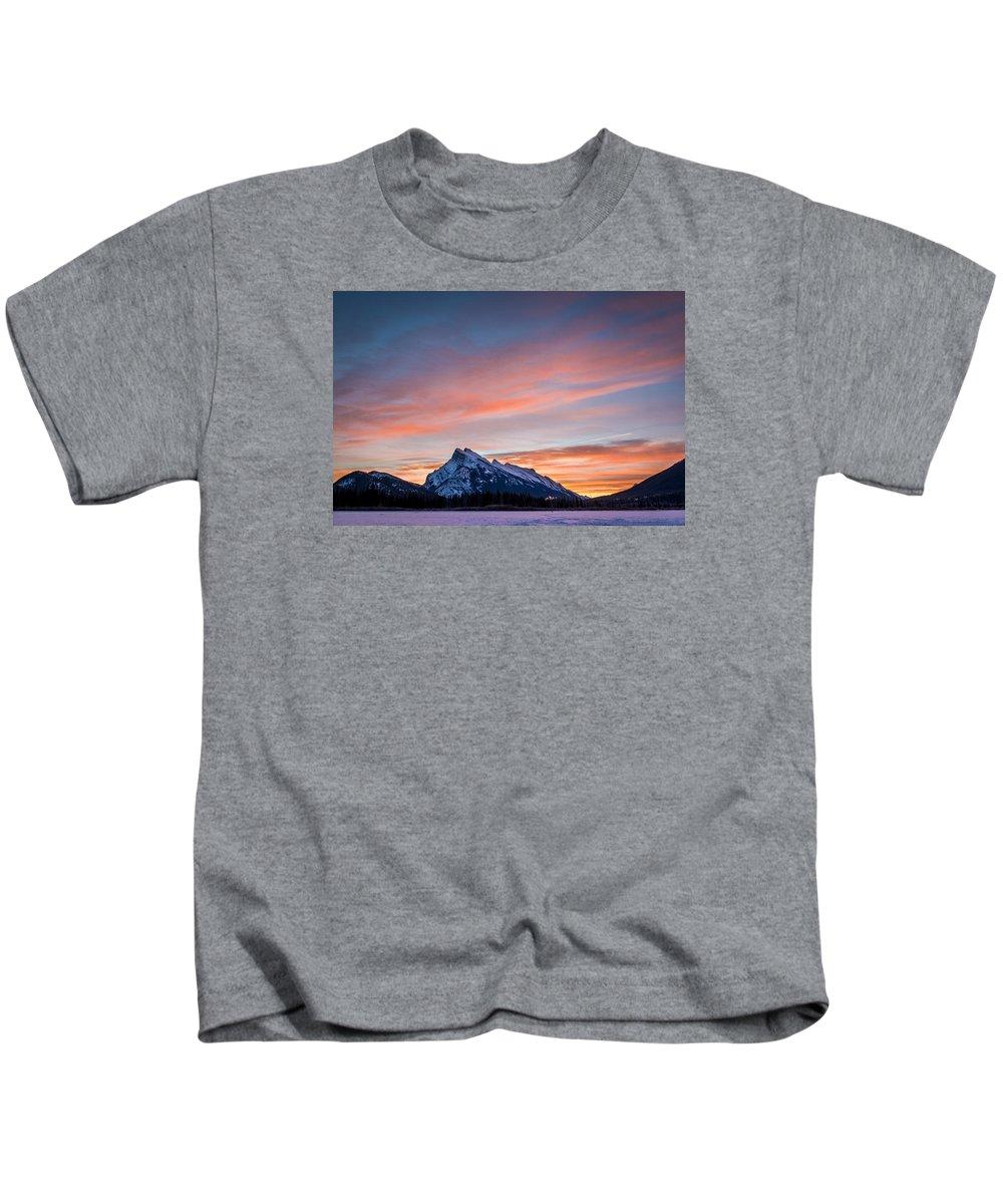 Purple Kids T-Shirt featuring the photograph Purple Morning by Cory Huchkowski
