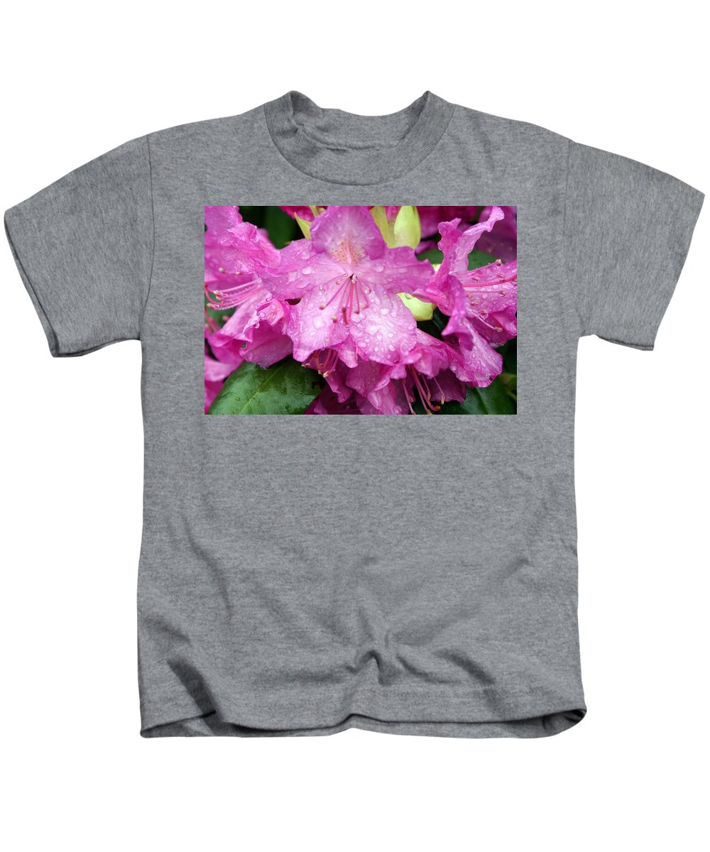 Flowers Kids T-Shirt featuring the photograph Purple Pink Horizontal by Marty Koch