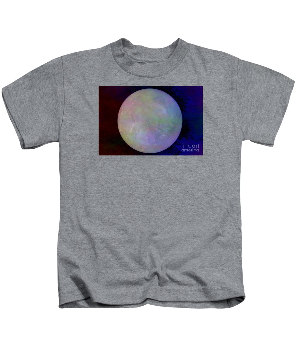 Crystal Ball Kids T-Shirt featuring the photograph Quartz Crystal Ball by Mary Deal