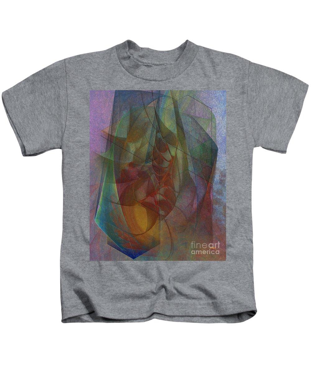 Quiet Insight Kids T-Shirt featuring the digital art Quiet Insight by John Beck