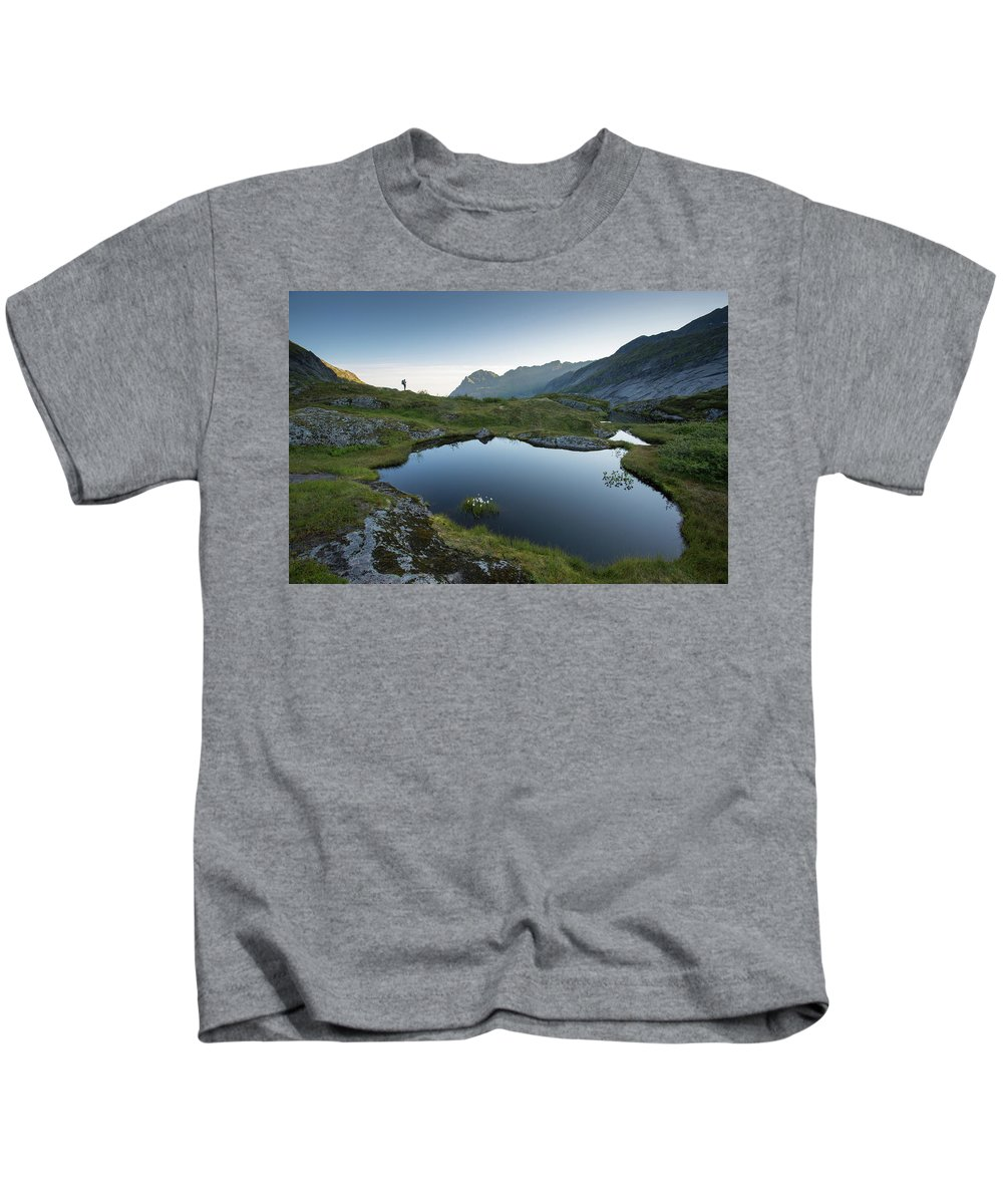 Lofoten Kids T-Shirt featuring the photograph Quiet Lofoten by Alex Conu