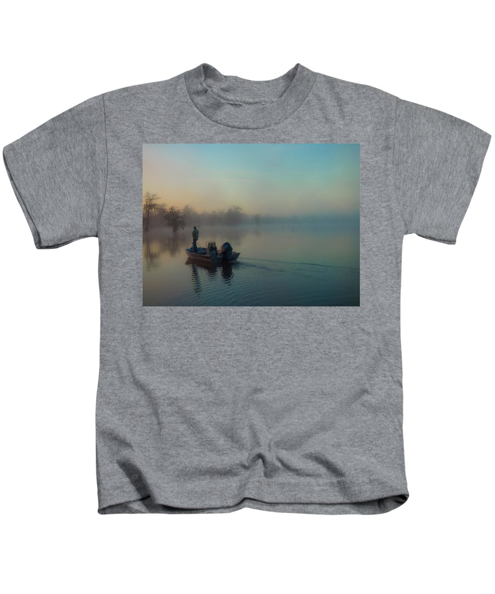 Orcinus Fotograffy Kids T-Shirt featuring the photograph Quiet Time by Kimo Fernandez