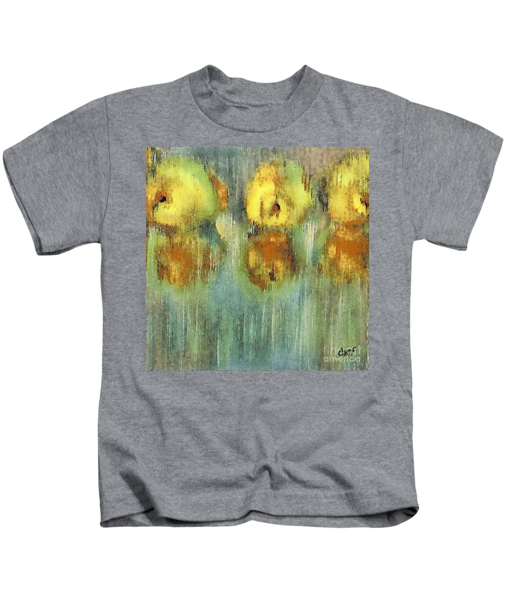 Fruits Kids T-Shirt featuring the pastel Quinces by Dragica Micki Fortuna