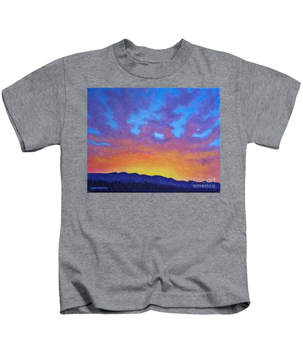 Landscape Kids T-Shirt featuring the painting Radiance by Brian Commerford