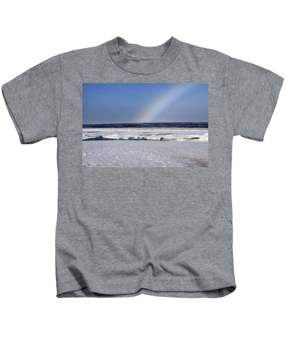 Rainbow Kids T-Shirt featuring the photograph Rainbow Over The Arctic by Anthony Jones