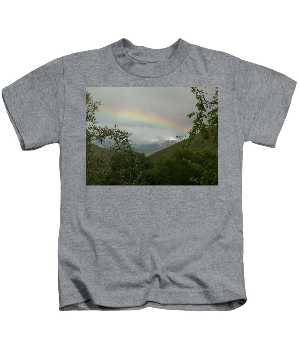 Trees Kids T-Shirt featuring the photograph Rainbow by Sara Stevenson