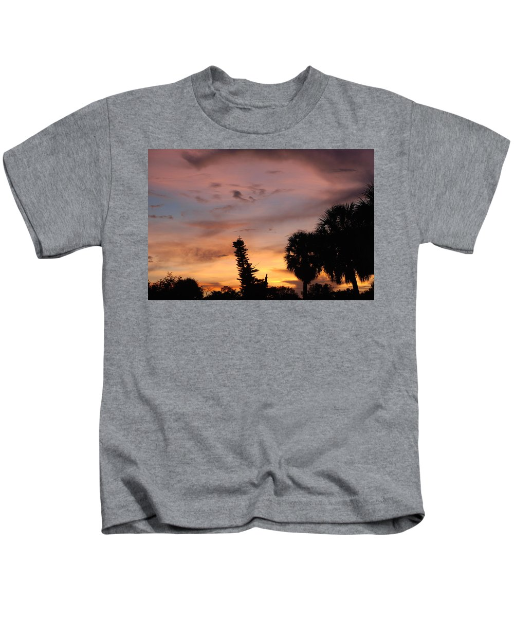 Sunset Kids T-Shirt featuring the photograph Rainbow Sunset by Rob Hans