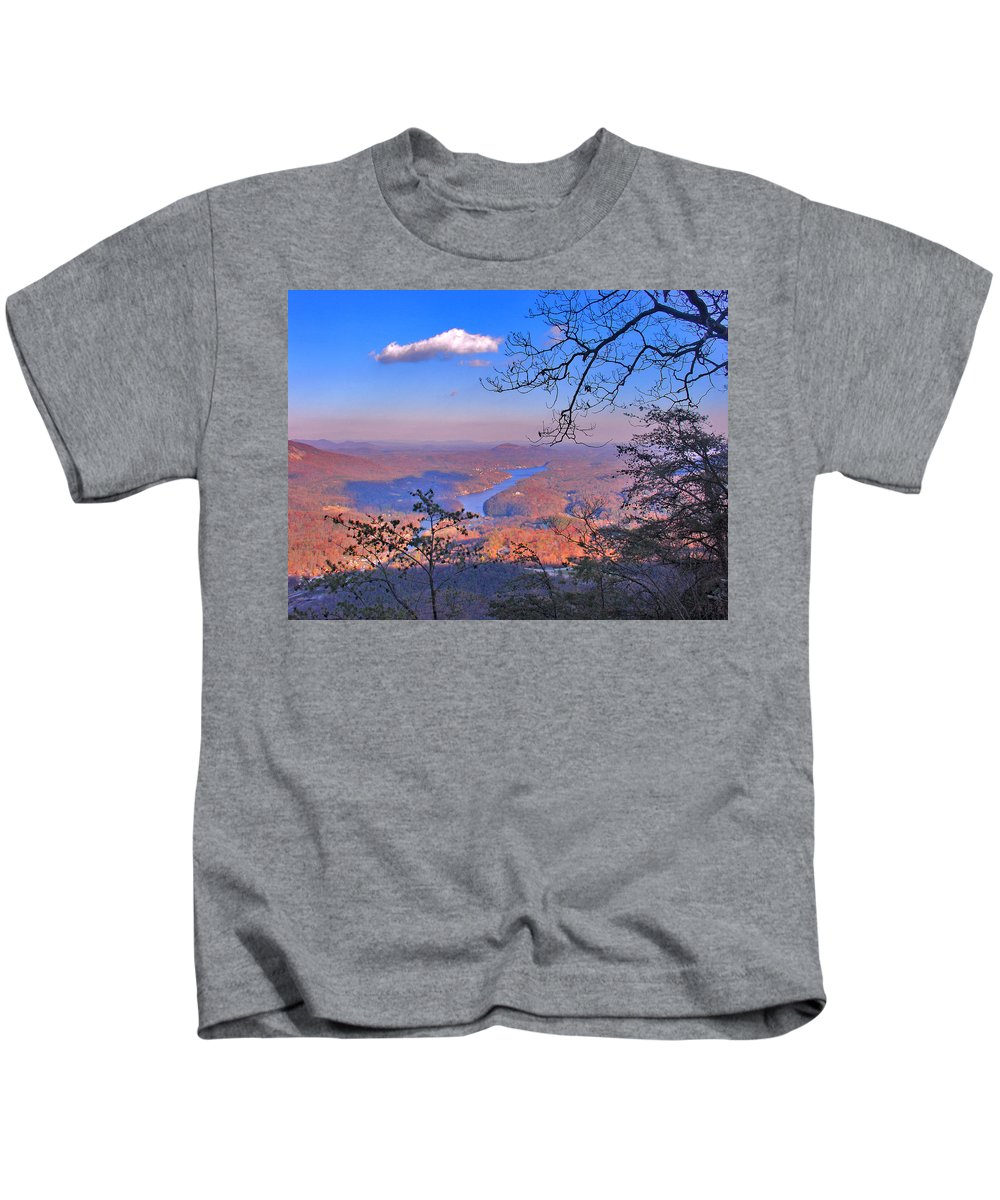Landscape Kids T-Shirt featuring the photograph Reaching For A Cloud by Steve Karol
