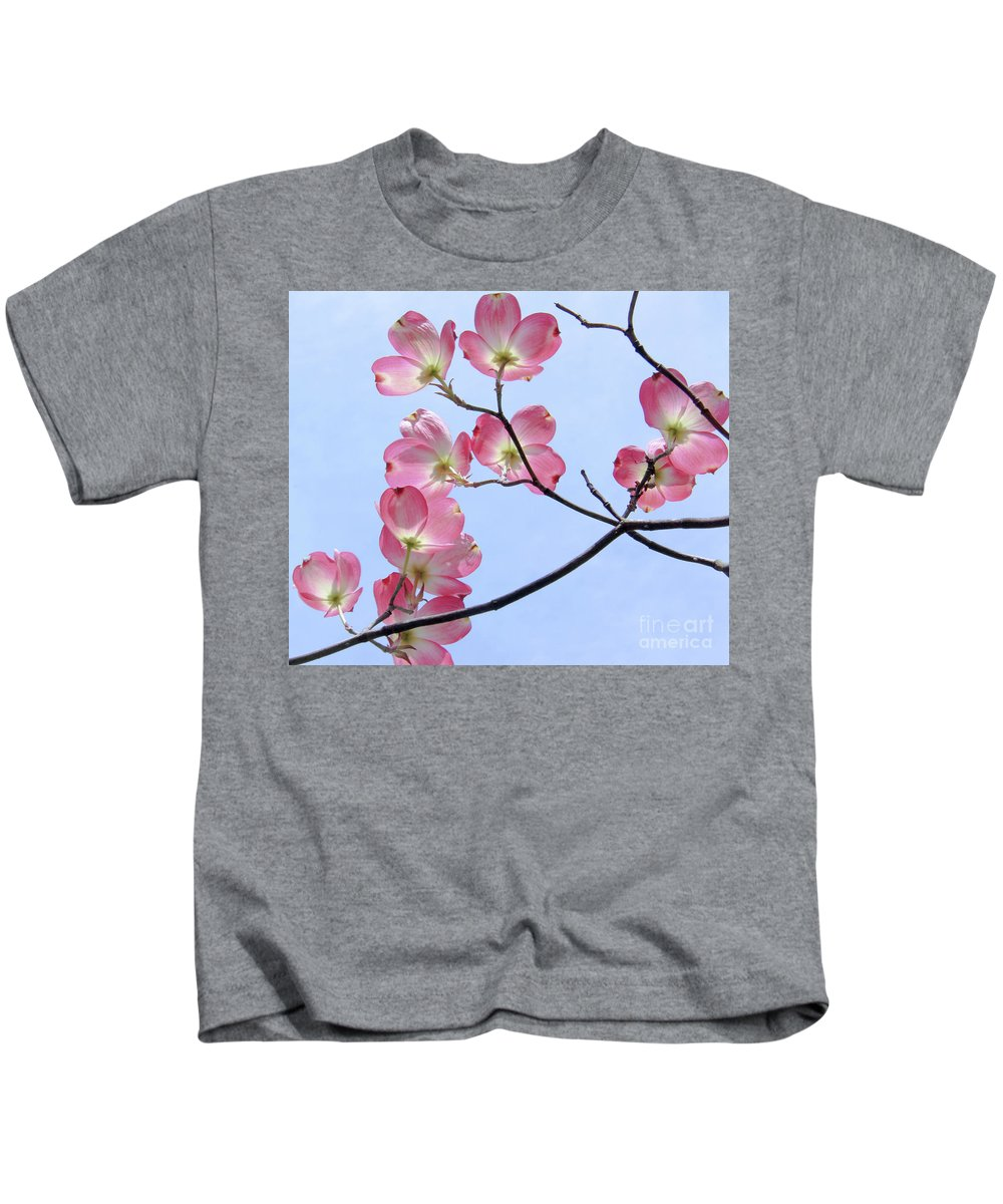 Dogwood Kids T-Shirt featuring the photograph Reaching For The Sky by Amy Sorvillo