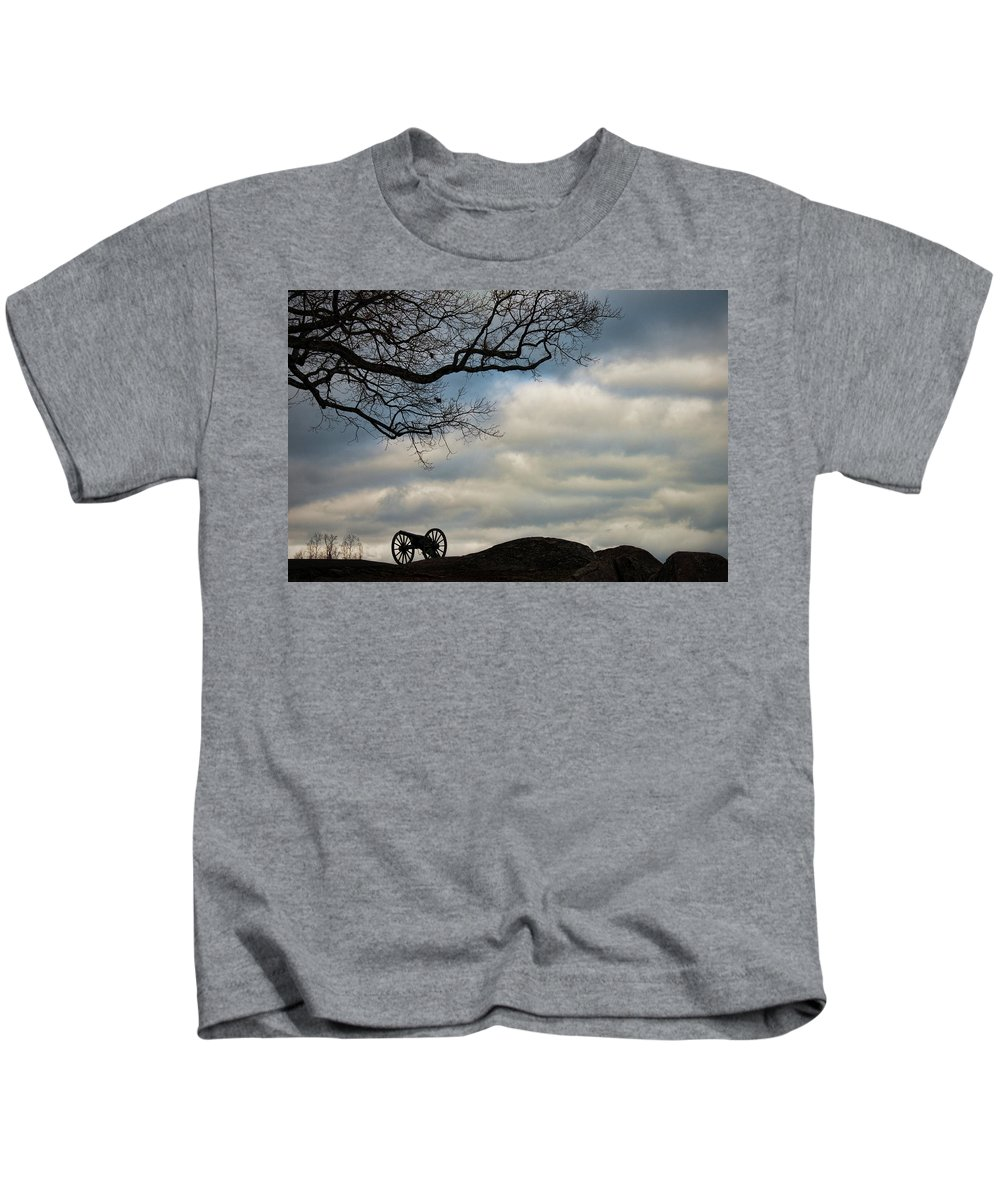 Cannon Kids T-Shirt featuring the photograph Reap The Wind by David Arment
