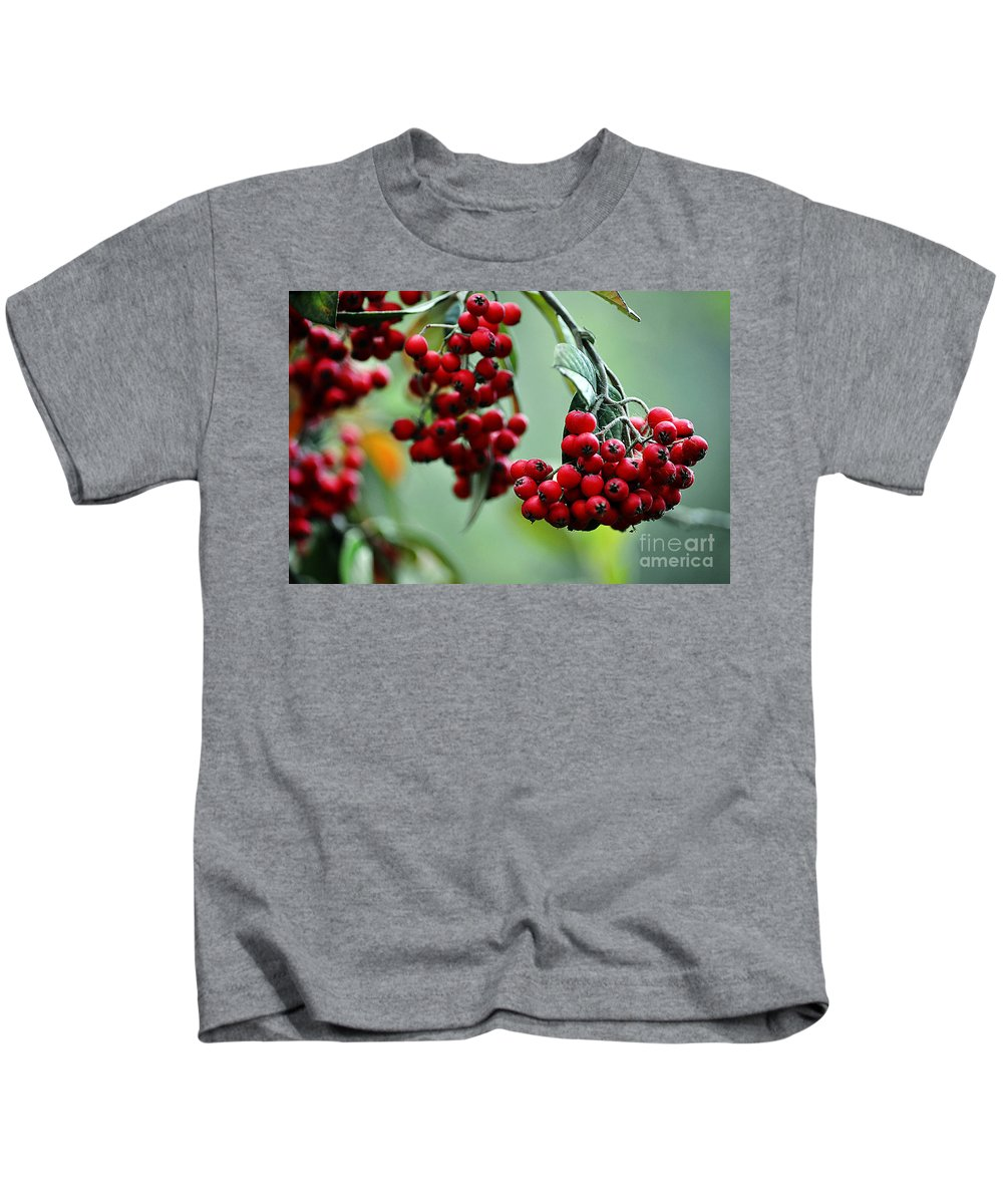 Clay Kids T-Shirt featuring the photograph Red Berries by Clayton Bruster