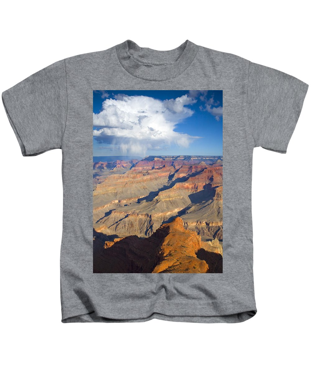 Grand Canyon Kids T-Shirt featuring the photograph Red Storm Rising by Mike Dawson