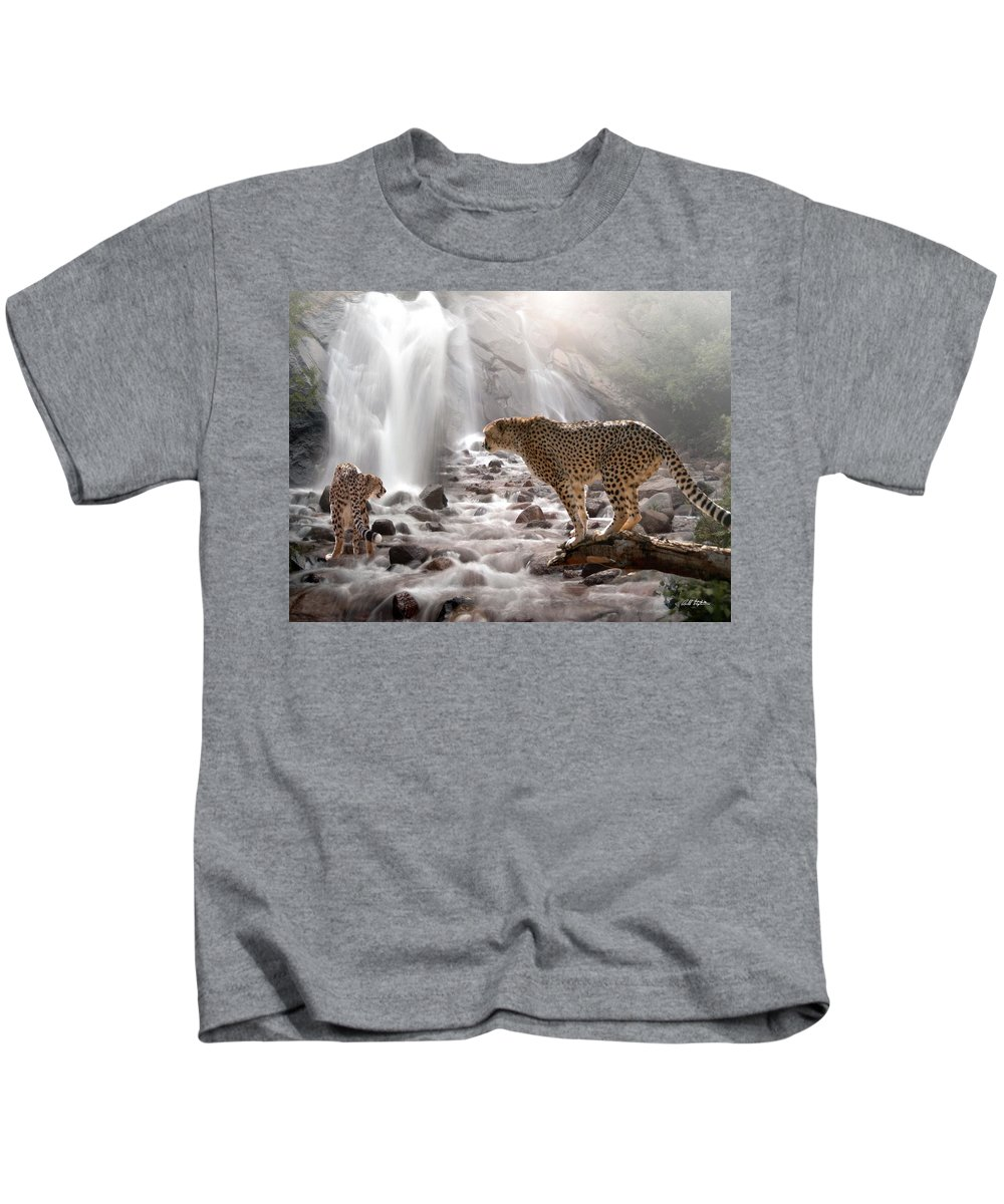 Wildlife Kids T-Shirt featuring the digital art Refreshed by Bill Stephens