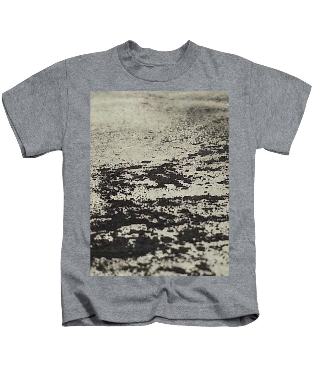 Art Kids T-Shirt featuring the mixed media Remains 4 by Nour Refaat
