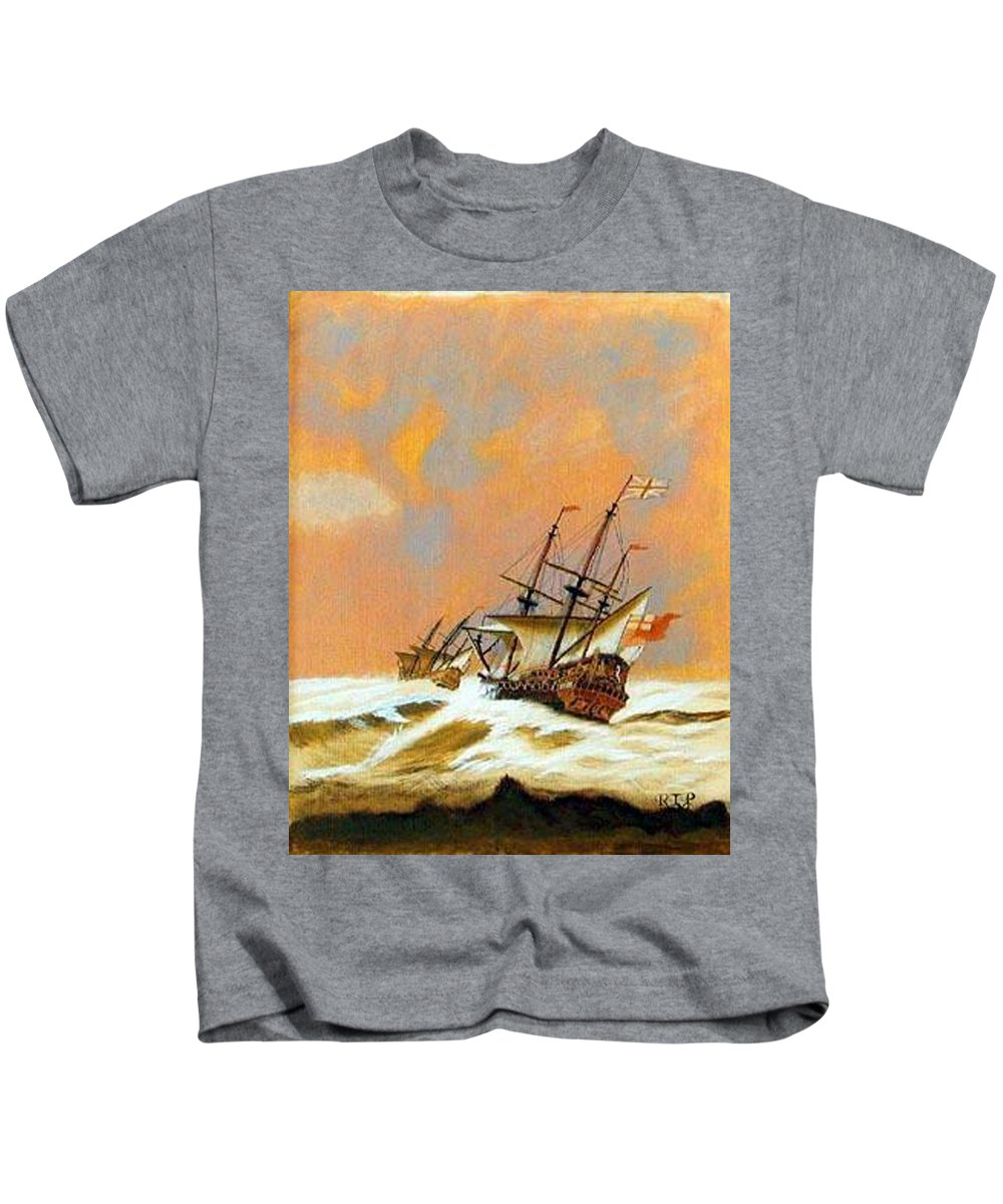 Resolution Kids T-Shirt featuring the painting Resolution by Richard Le Page