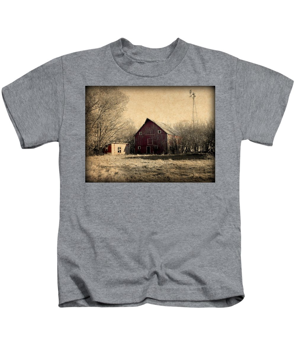 Barn Kids T-Shirt featuring the photograph Retired 2 by Julie Hamilton