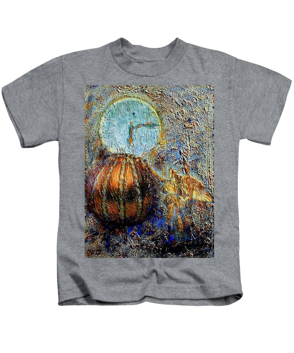 Christian Kids T-Shirt featuring the mixed media Revelation by Gail Kirtz
