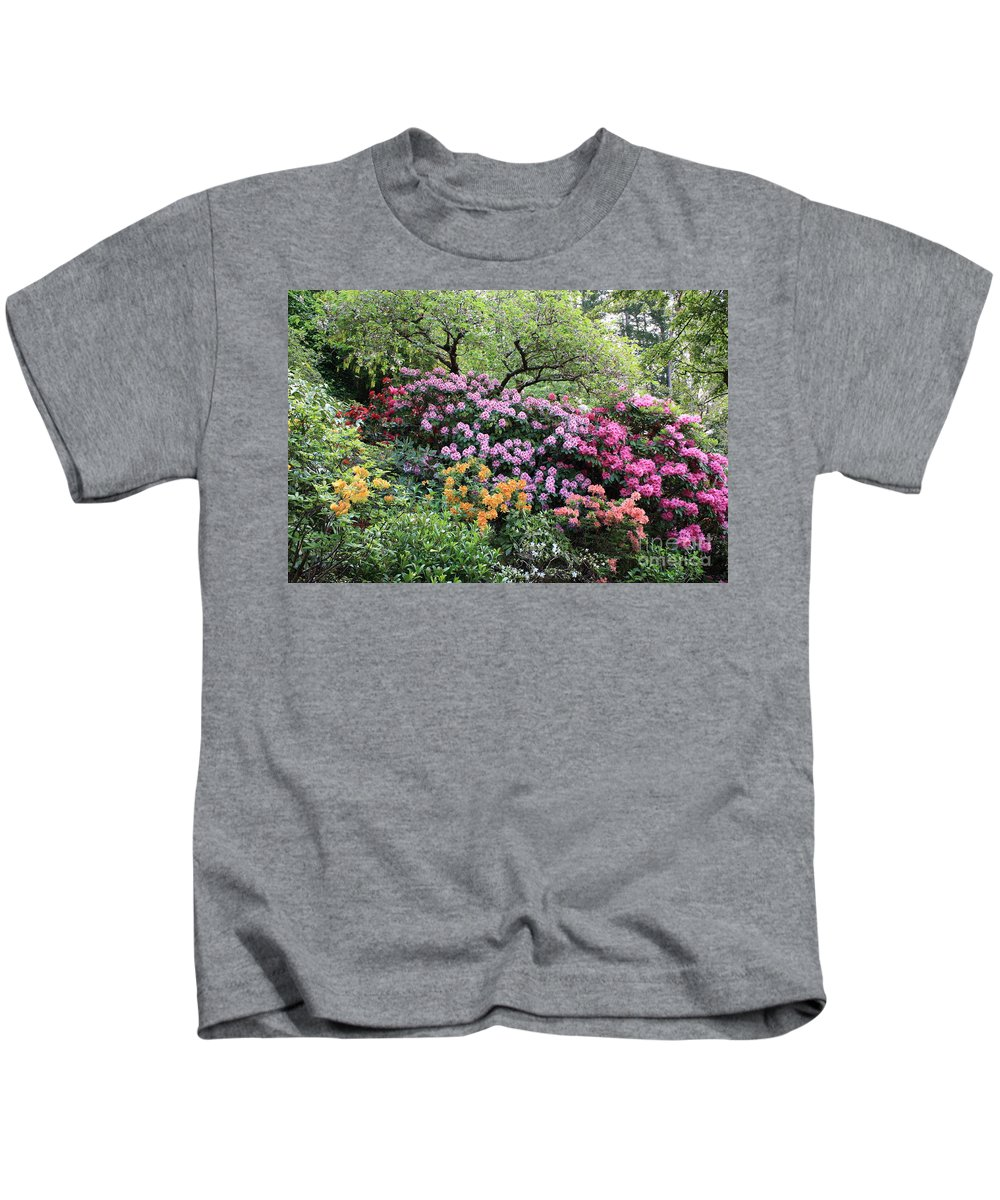 Rhododendrons Kids T-Shirt featuring the photograph Rhododendron Hill by Carol Groenen