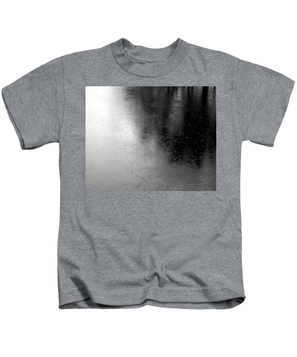 River Kids T-Shirt featuring the photograph River Rain Naperville Illinois by Michael Bessler