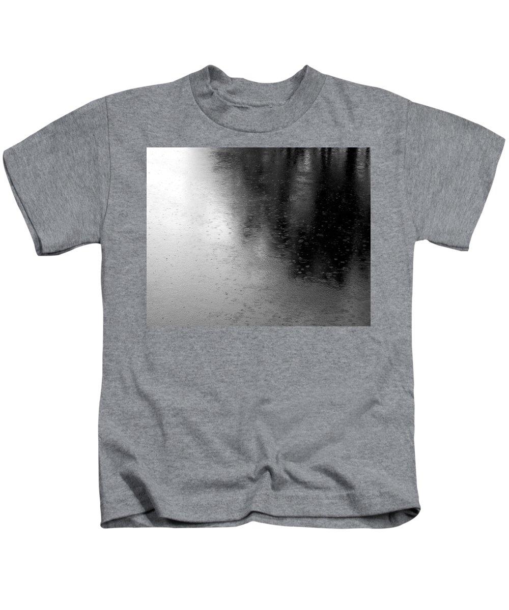 River Kids T-Shirt featuring the photograph River Rain Naperville Illinois by Michael Bessler